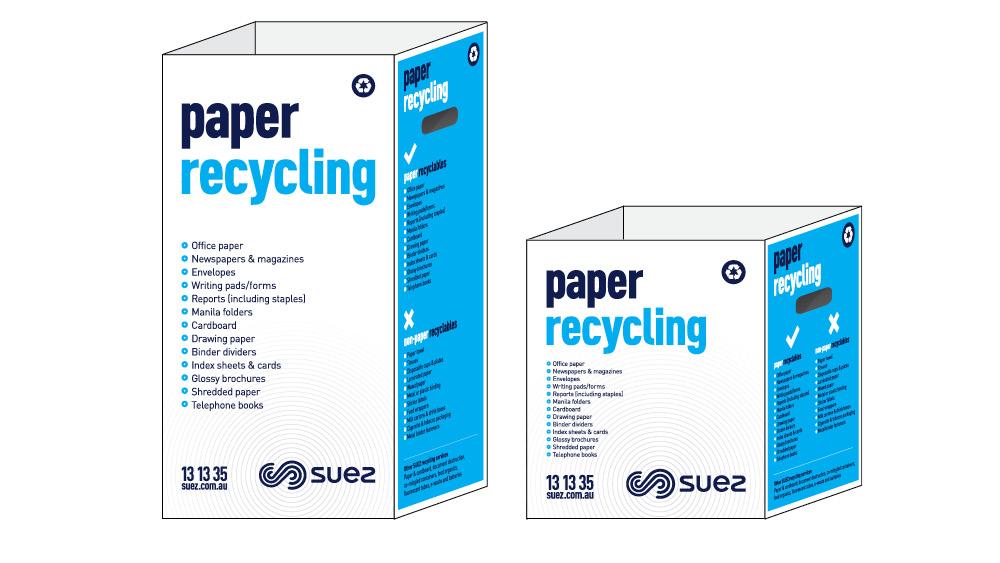 bins paper recycling