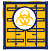 Hazardous and toxic waste icon