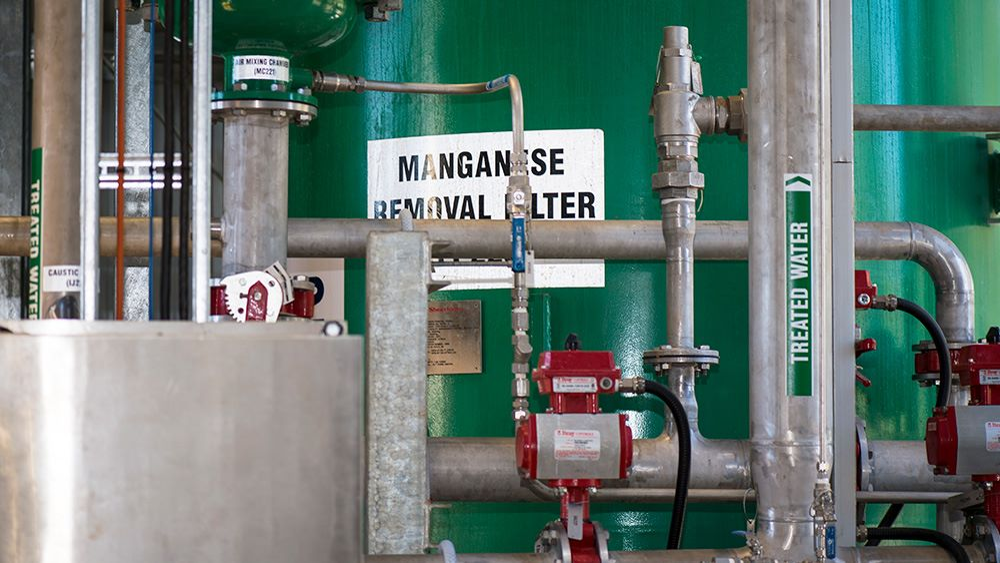 Manganese removal filter