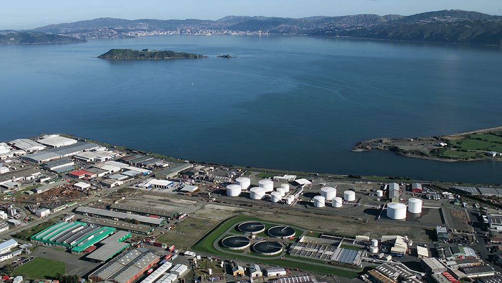 Seaview Wastewater Treatment Plant next to Wellington Harbour