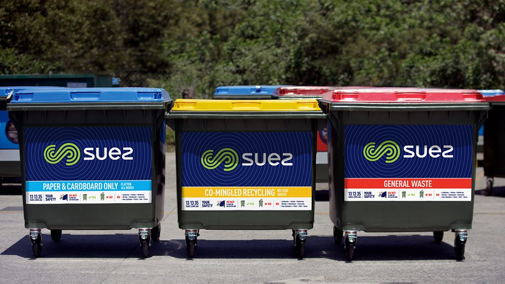 SUEZ REL bins in a row