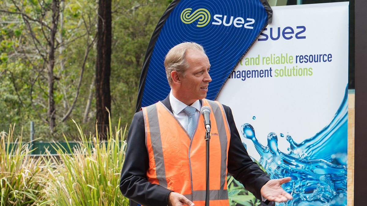 SUEZ parramatta mark venhoek speaking