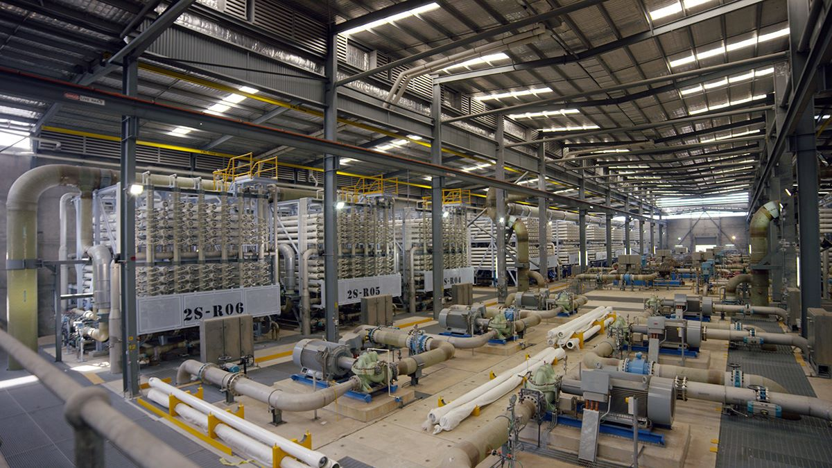SUEZ perth desalination hall