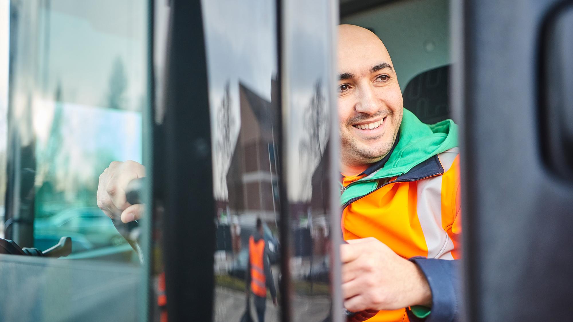 Vrachtwagenbestuurder van SUEZ Sombreffe
