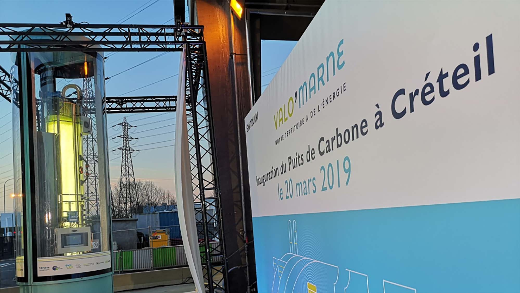 Inauguration puits de carbone Valo Marne