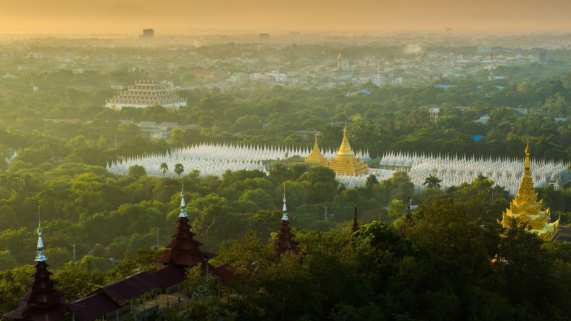 Vue de Mandalay, Myanmar