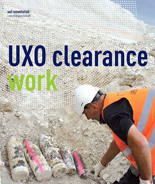 UXO clearance work cover