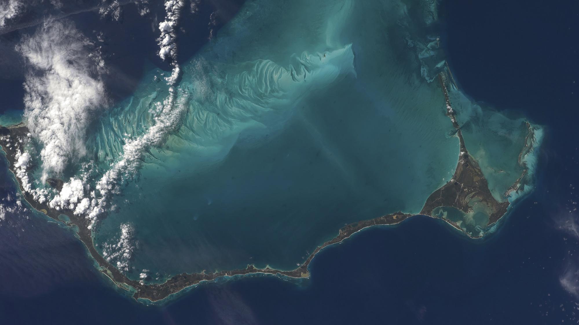 Bahamas lengthy narrow Eleuthera Island