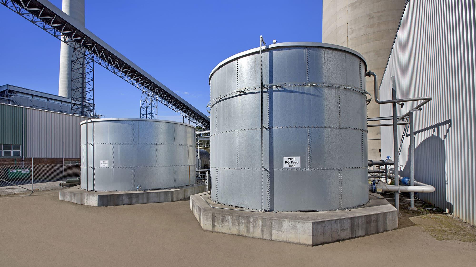 Delta Electricity Australie réservoir d'eau d'alimentation de l'osmose