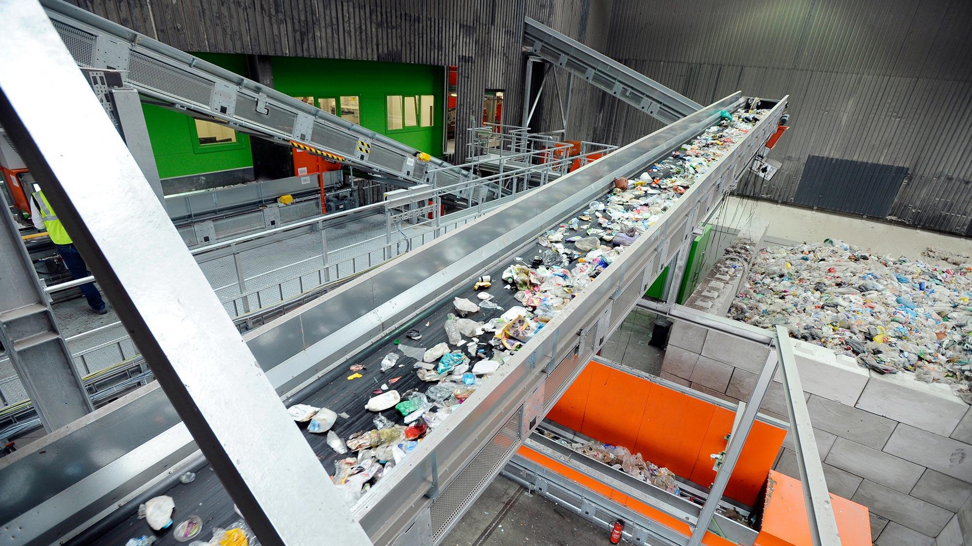 Centre de tri des déchets de Rotterdam