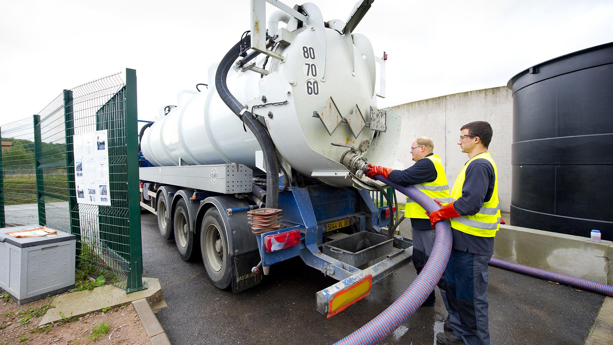 Service de traitement des effluents hors site