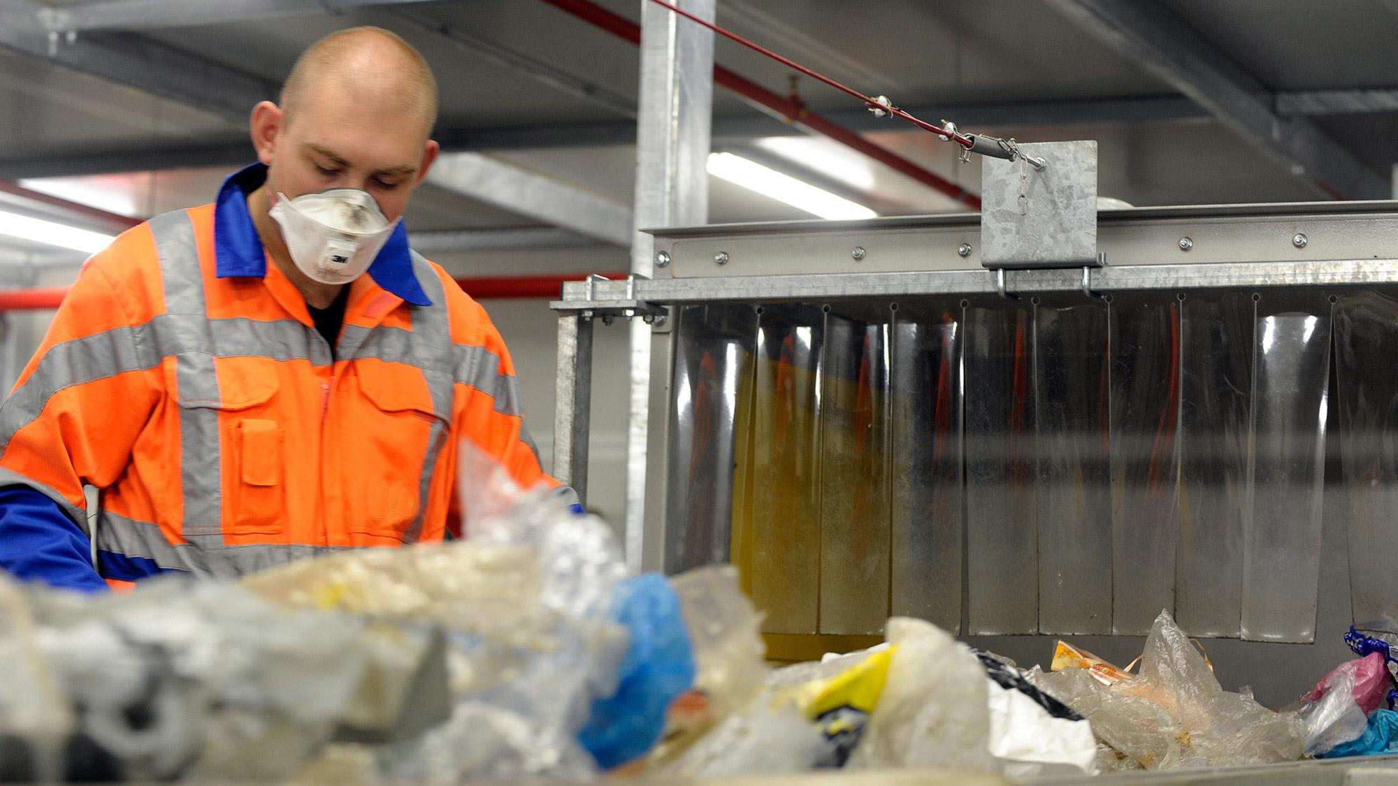 Tri et prétraitement déchets d'entreprise