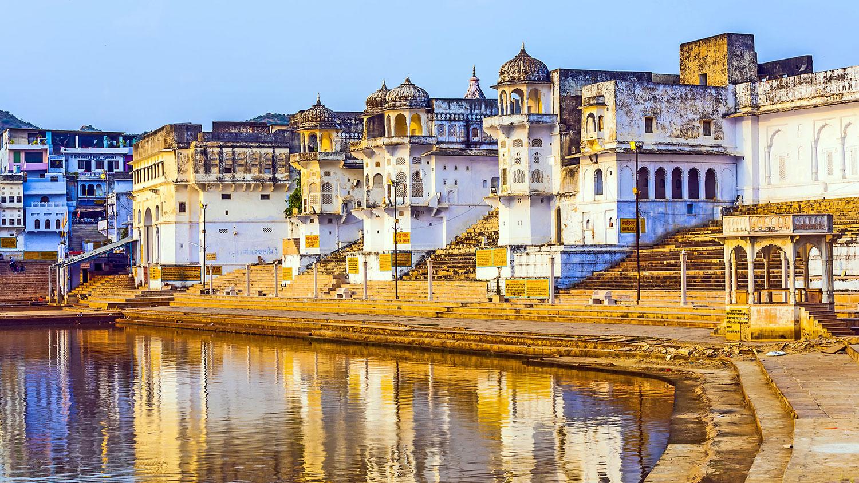 Vue sur les Ghats de Pushkar