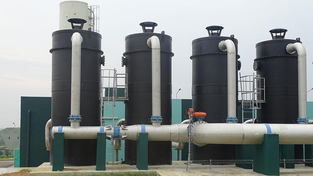 Unités compactes UCD® AERO-G sur l'usine de Bonoua II qui alimente Abidjan en eau potable ©SUEZ