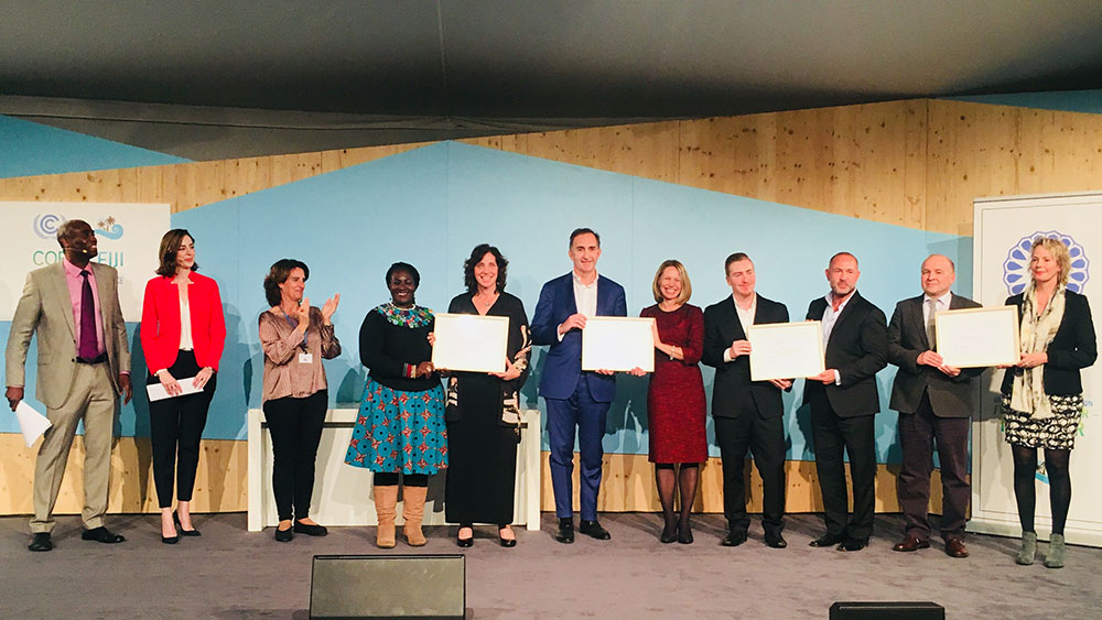 COP23 award Momentum for Change