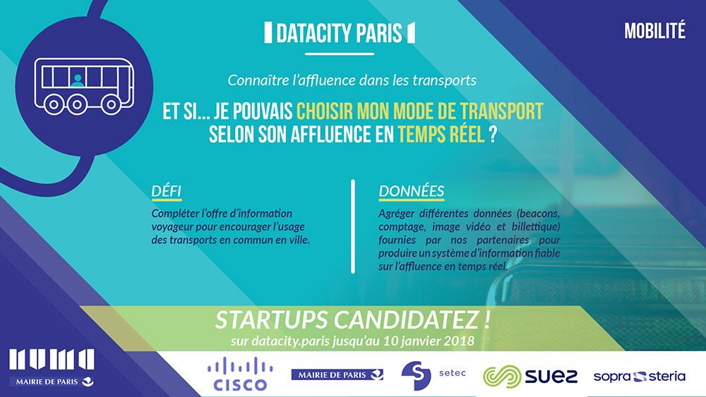 Flyer Datacity Paris : Connaître l'affluence dans les transports