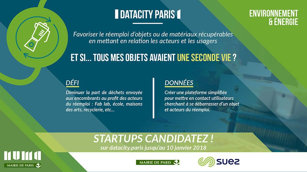 Flyer Datacity Paris : Favoriser le réemploi des objets
