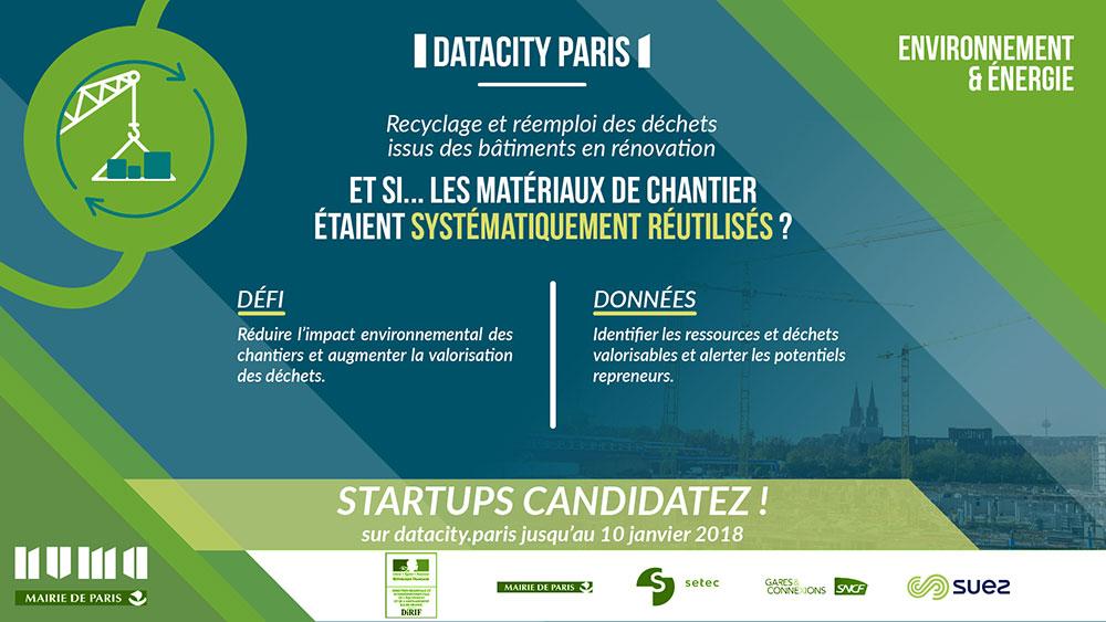 Flyer Datacity : Recyclage et réemploi des déchets issus des bâtiments en rénovation