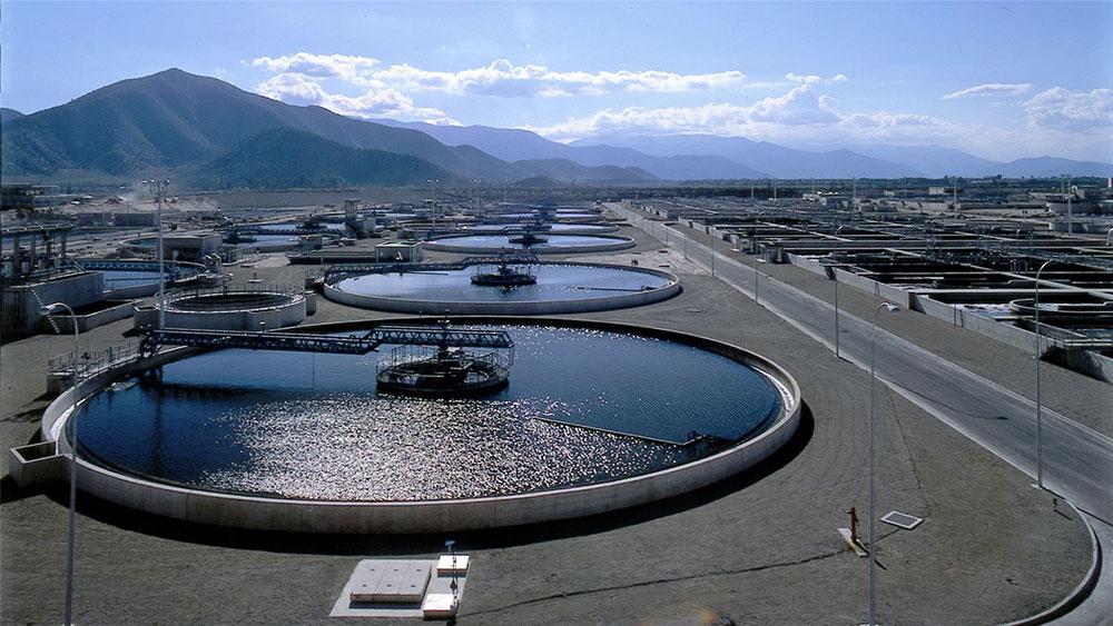 Station de traitement des eaux résiduaires de la Farfana au Chili