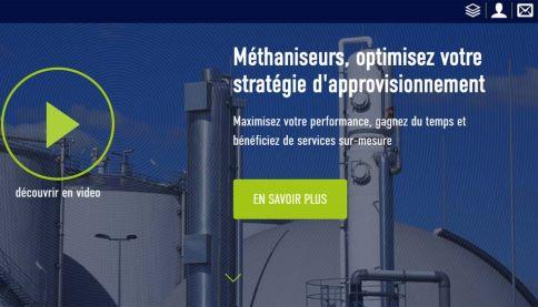 Screenshot Organix digital marketplace in France