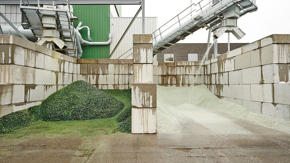 Usine de recyclage de verre High5 à Anvers en Belgique