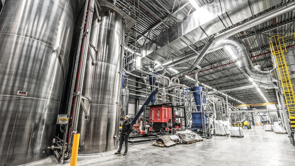 QCP processing plastics in Rotterdam