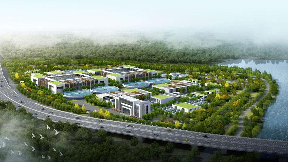 Shema usine de traitement des eaux usees de la region de Chengdong a Changshu