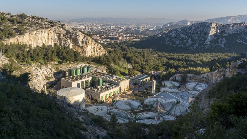 Unité de traitement des boues d'épuration à Marseille
