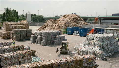 sorting center and waste separation