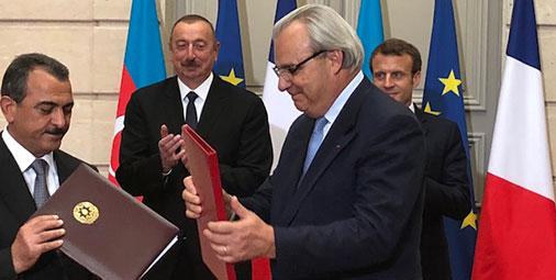 Jean-Louis Chaussade a rencontré le Président de la République d'Azerbaïdjan Ilham Aliyev