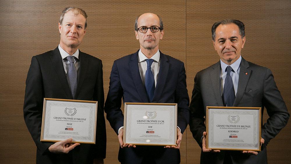 Trophée Argent 2017 actionnaires (prix)