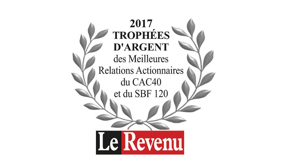 Great Silver Award for best Shareholder Relations