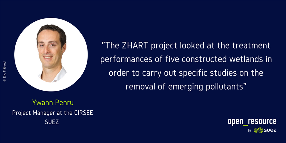 ZHART project - Ywann Penru quote - The ZHART project looked at the treatment performances of five constructed wetlands in order to carry out specific studies on the removal of emerging pollutants