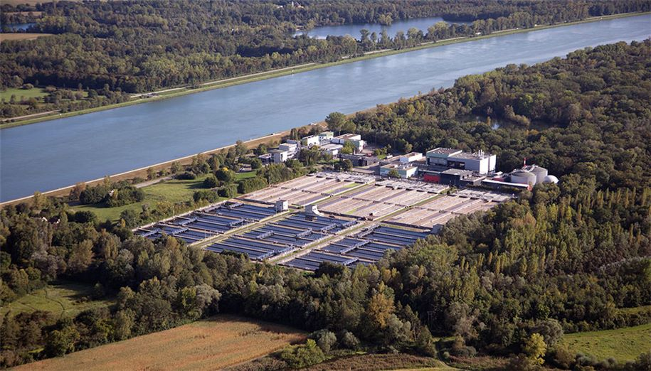 SUEZ wastewater treatment plant in Strasbourg