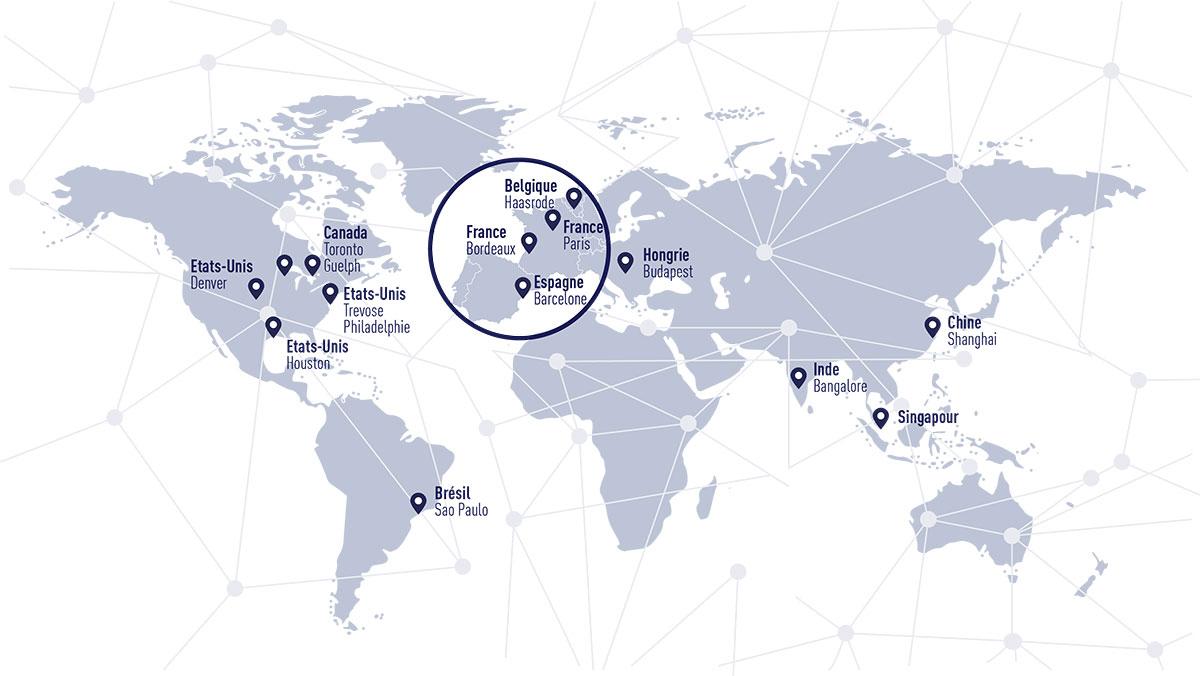 carte des centres de recherche