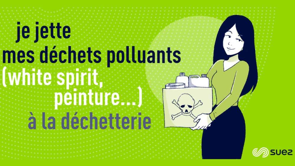 Ecogeste - Capsule - Déchets polluants a la déchetterie