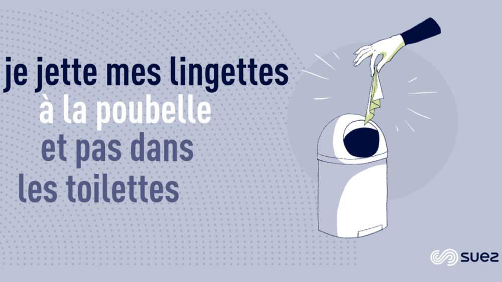 Ecogeste - Capsule - Lingettes à la poubelle et pas dans les toilettes