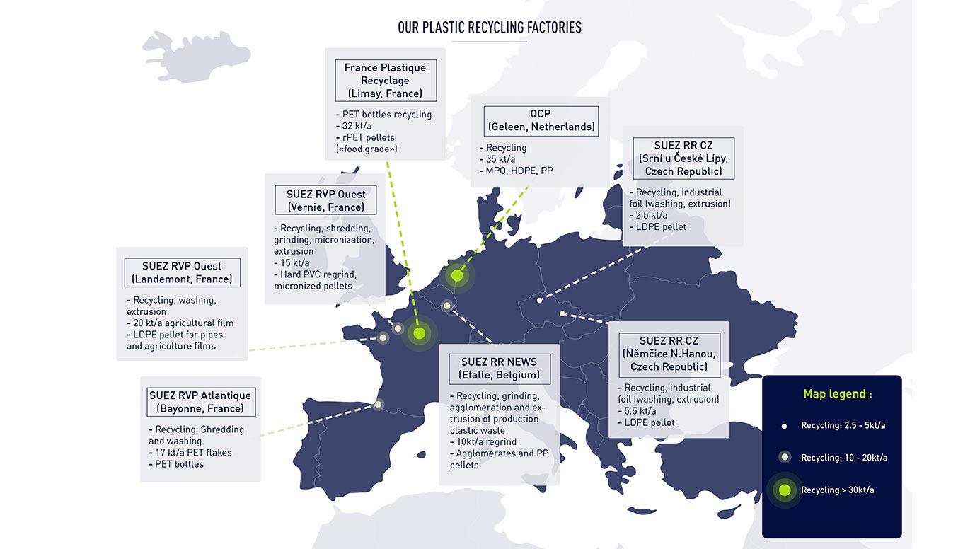 SUEZ's sustainable plastic factories in Europe
