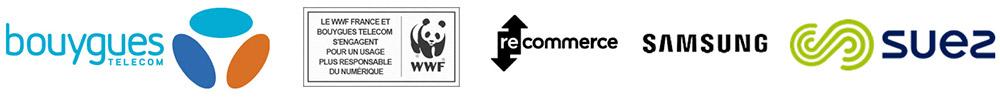 Logos des partenaires pour le recyclage des téléphones
