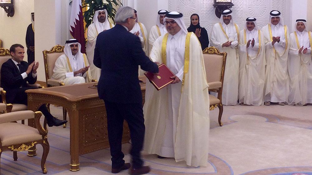 Signature of the soil remediation contract of Al Karaana Lagoons