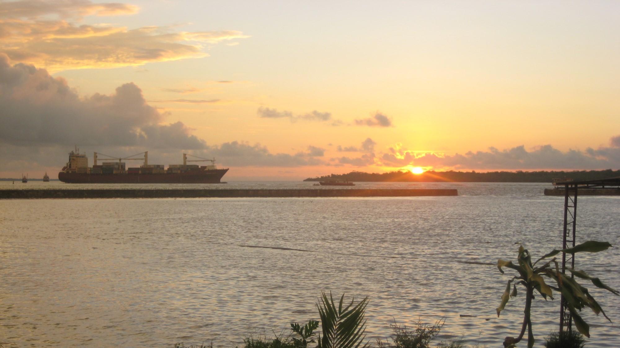 Imagem do porto de Buenaventura, na Colômbia