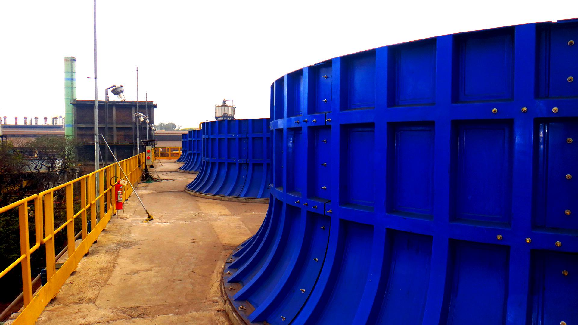 Imagem da planta de reutilização na CSN