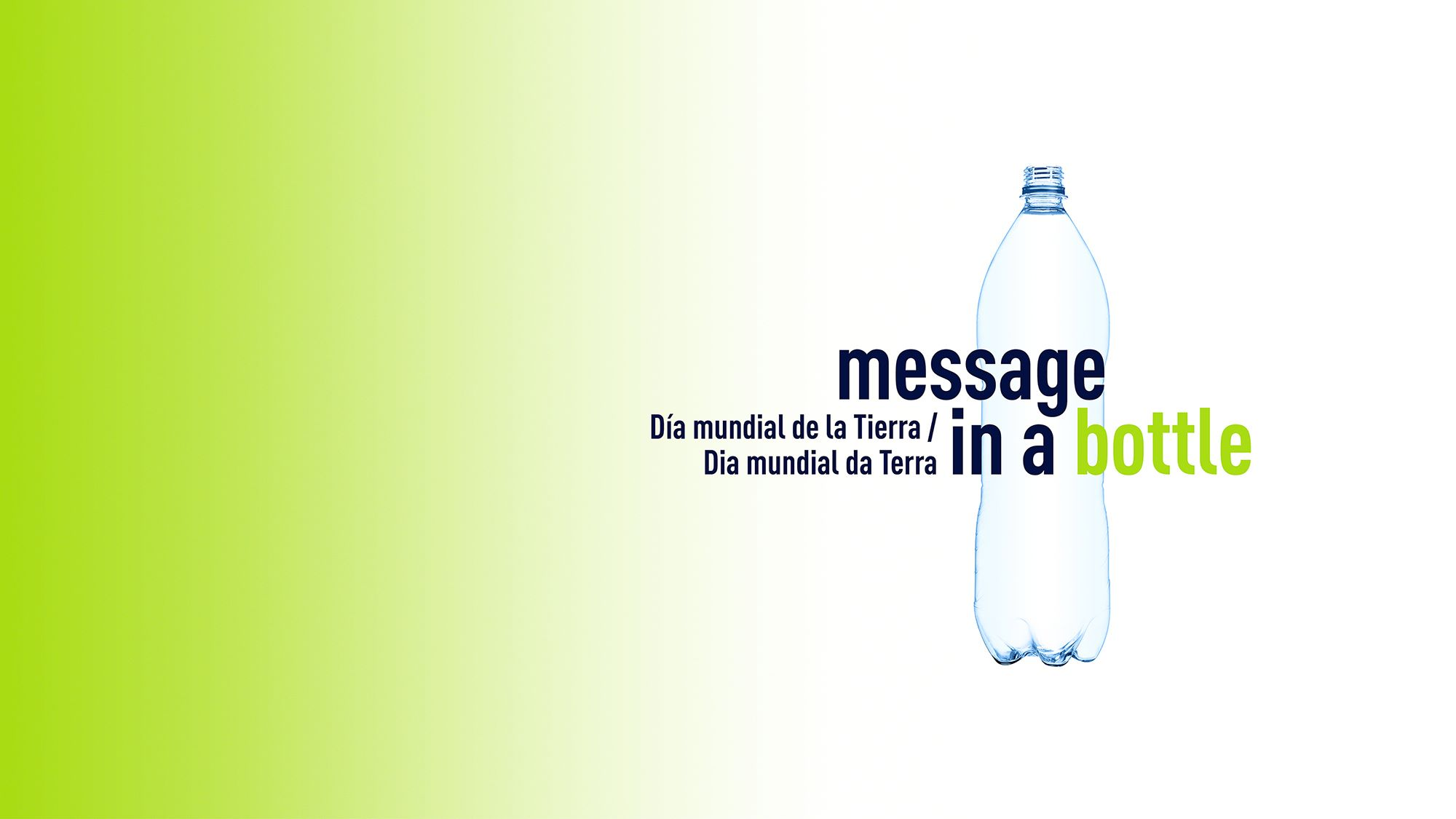 picture of earth day campaign with a bottle