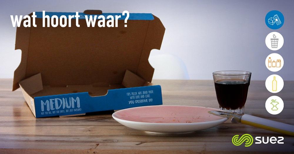 suez papier wat hoort waar pizzadoos