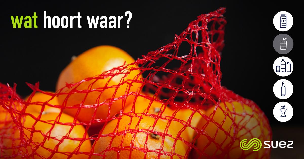 suez restafval wat hoort waar mandarijnnetje