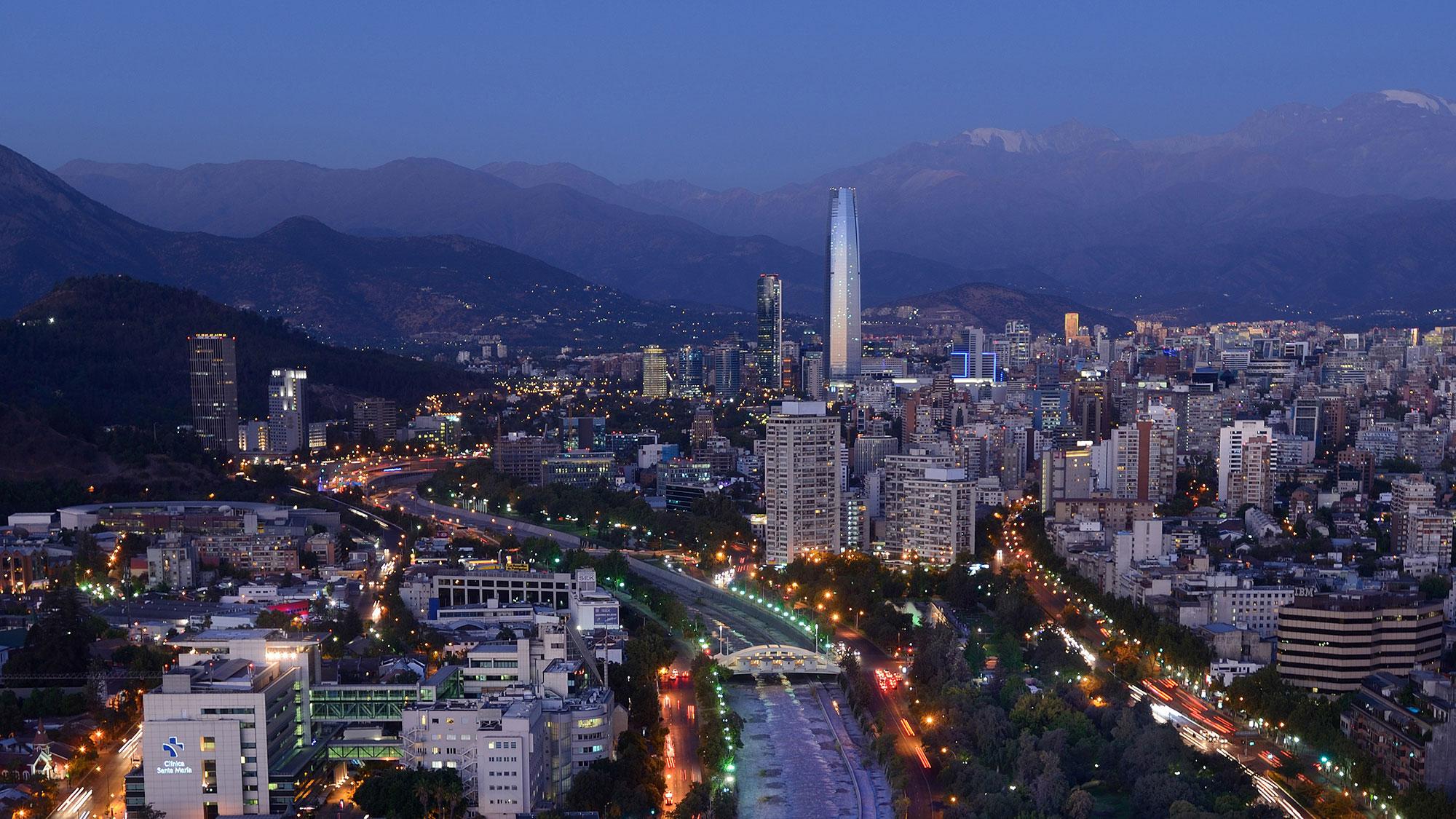 Santiago-Chili-Ville-nuit