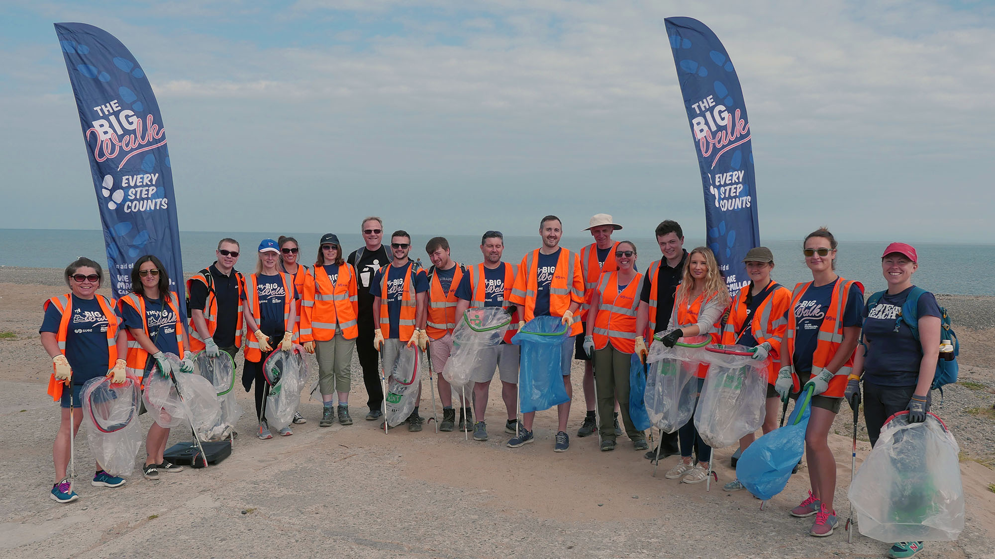 SUEZ cleaning Blackpool beach