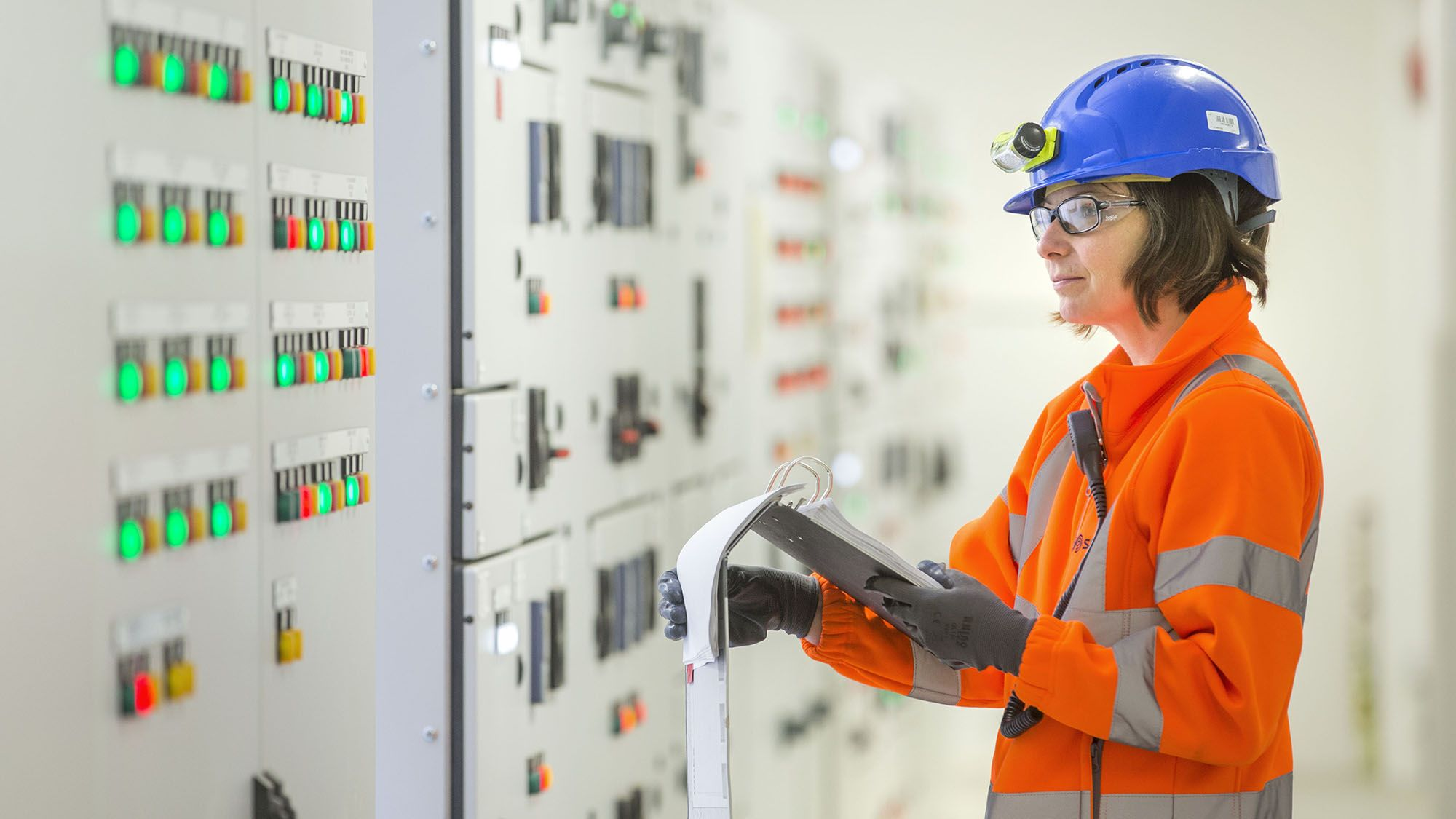 Technician at energy from waste facility