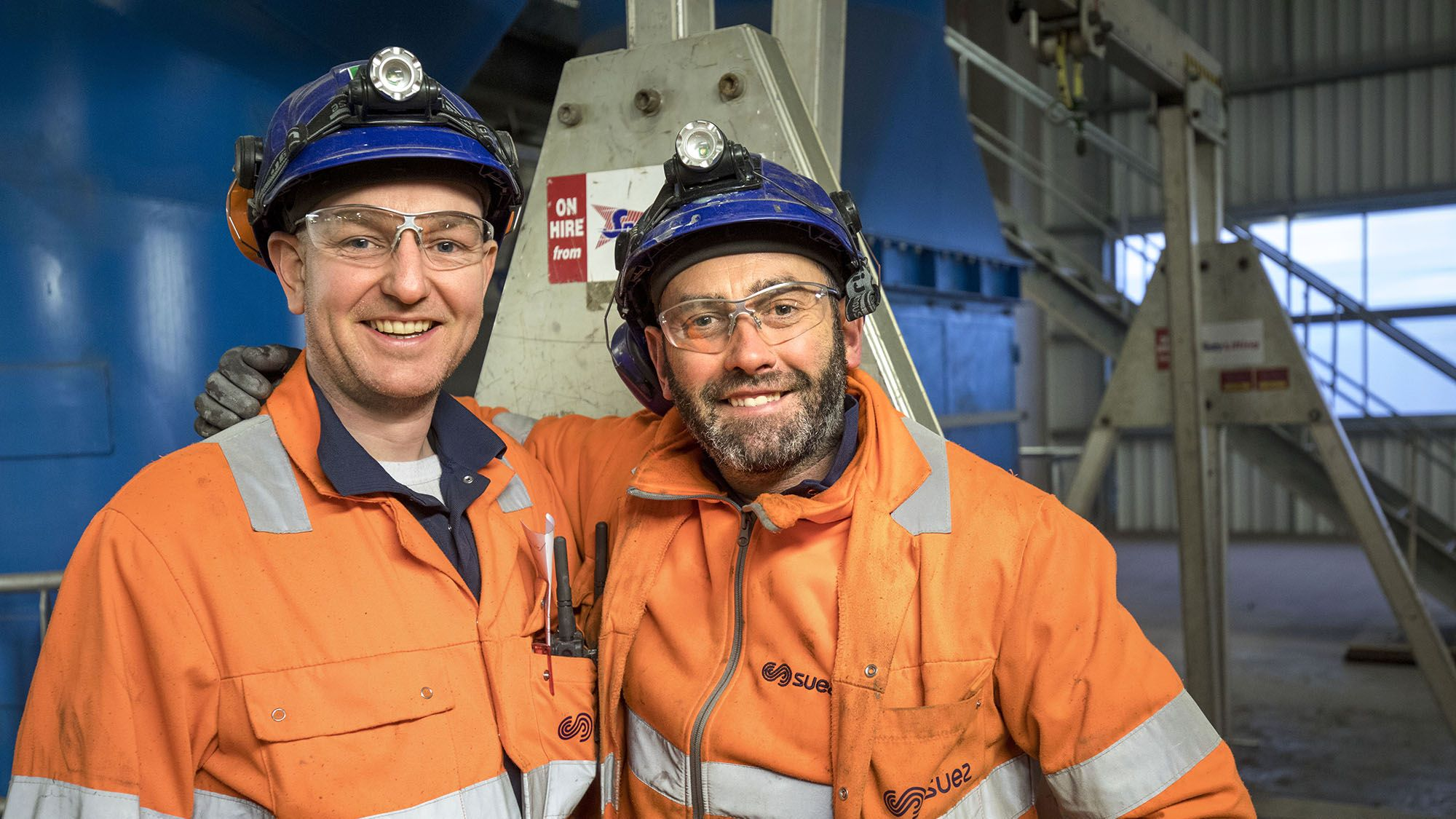 SUEZ technicians at Wilton energy from waste facility