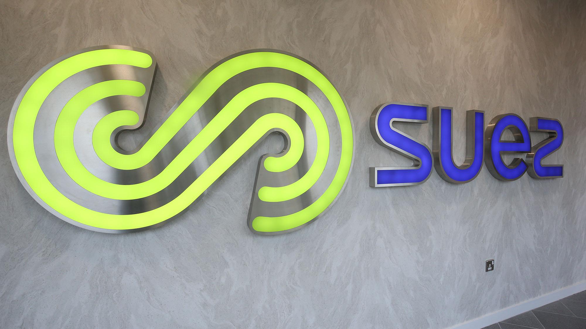 SUEZ House illuminated sign
